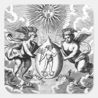 Alchemical Mercurius square stickers