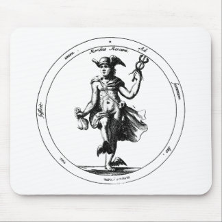 Alchemical Mercury and Caduceus Mouse Pad