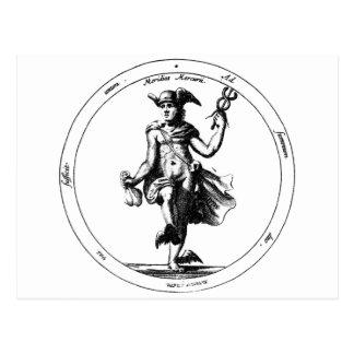 Alchemical Mercury and Caduceus Postcard