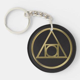 Alchemical symbol keychain