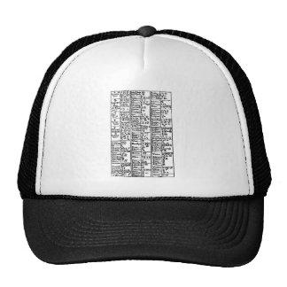 Alchemical Symbols 17th Century Trucker Hat