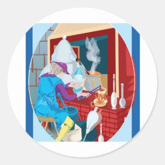 alchemist classic round sticker