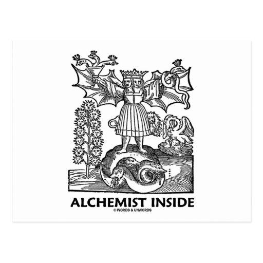 Alchemist Inside (Medieval Alchemy) Postcard