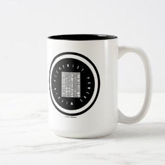 Alchemist Powers Within (Alchemy Table Logo) Two-Tone Coffee Mug