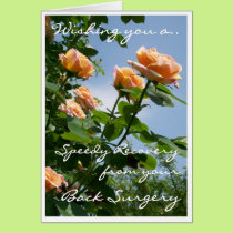 'Alchemist' Rose Get Well (Back Surgery) Card