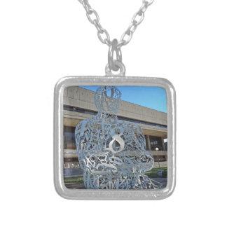 Alchemist Sculpture Square Pendant Necklace