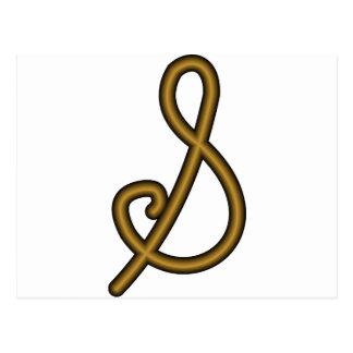 Alchemist Symbol for Gold Postcard
