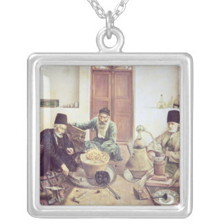Alchemists, 1893 silver plated necklace