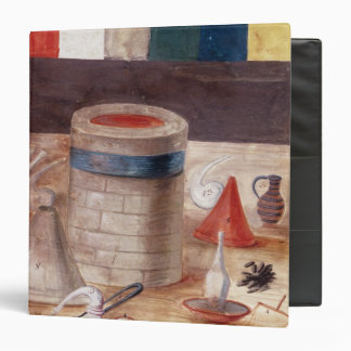 Alchemist's equipment, reputedly written binder