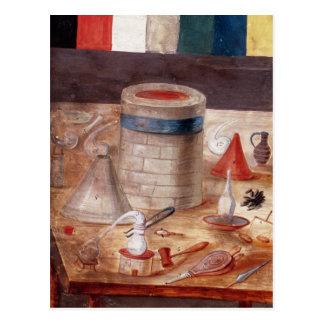 Alchemist's equipment, reputedly written postcard