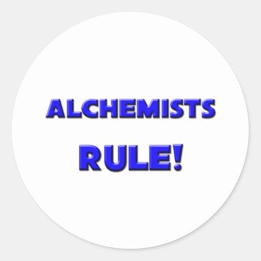 Alchemists Rule! Classic Round Sticker