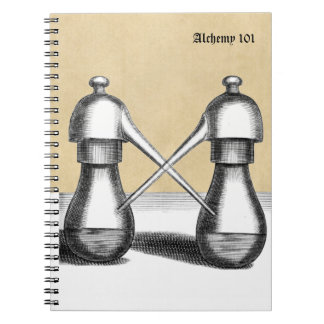 ❝Alchemy 101❞ Personalized Double Eagle Notebook