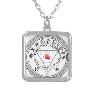 Alchemy Design Circle Silver Plated Necklace