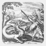 Alchemy Dragon Square Sticker