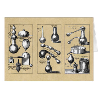 Alchemy Lab Beakers and Tools Card
