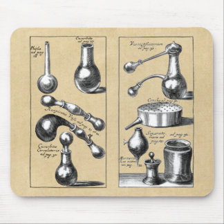Alchemy Laboratory Beakers and Tools Mouse Pad