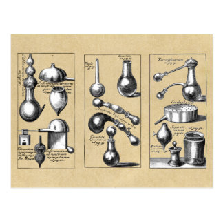 Alchemy Laboratory Beakers and Tools Postcard