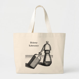 Alchemy Laboratory Flask and Receiver Personalized Large Tote Bag