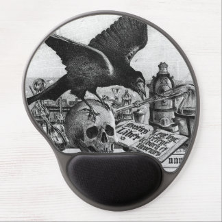 Alchemy Laboratory Raven and Human Skull Gel Mouse Pad