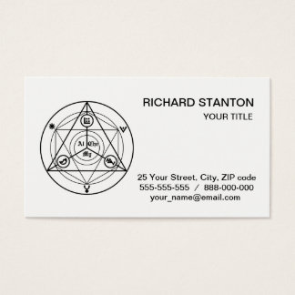 Alchemy manifesto business card