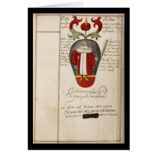 Alchemy Notebook By Johann Grasshoff 1620 Plate 15 Card