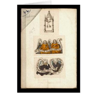 Alchemy Notebook By Johann Grasshoff 1620 Plate 1 Greeting Cards