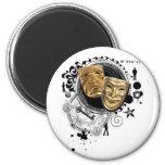 Alchemy of Acting Drama Masks 2 Inch Round Magnet
