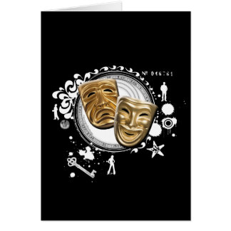 Alchemy of Acting Drama Masks Card