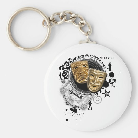 Alchemy of Acting Drama Masks Keychain
