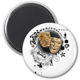 Alchemy of Acting Drama Masks Fridge Magnet