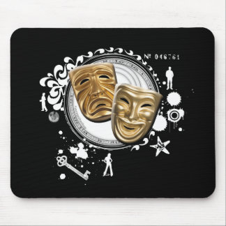 Alchemy of Acting Drama Masks Mouse Pad