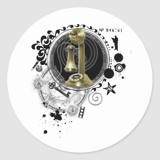 Alchemy of Producing Image Classic Round Sticker