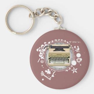 Alchemy of Writing Typewriter Keychain