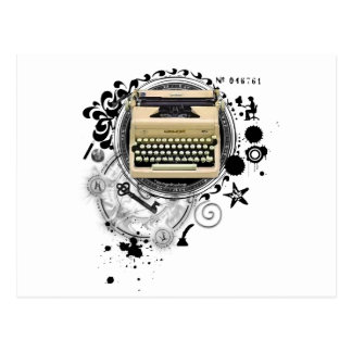 Alchemy of Writing Typewriter Postcard