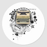 Alchemy of Writing Typewriter Classic Round Sticker