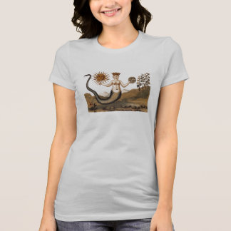 Alchemy snake-woman with three faces tee shirt