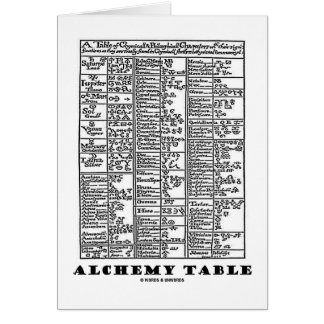 Alchemy Table (Medieval Chemistry Symbols) Greeting Card