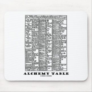 Alchemy Table (Medieval Chemistry Symbols) Mouse Pad