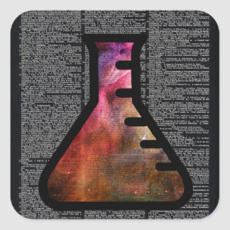 Alchemy Vial on Vintage Dictionary page Square Sticker