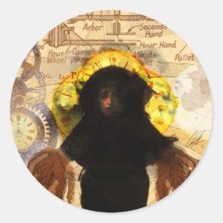 Alchemy Vintage Steam Punk Medusa Classic Round Sticker