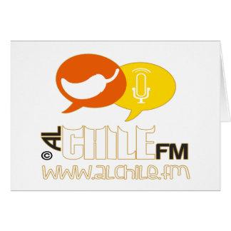 ALCHILE FM RADIO CUSTOMIZABLE PRODUCTS CARD