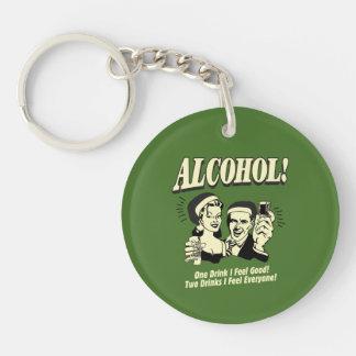 Alchohol: One Drink I feel Good Keychain