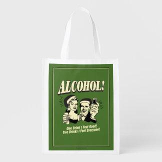 Alchohol: One Drink I feel Good Reusable Grocery Bag