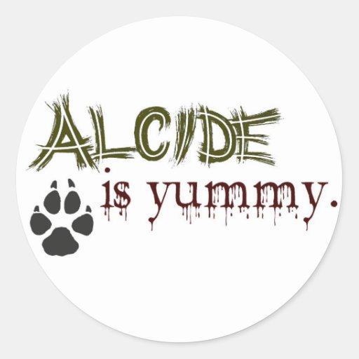 Alcide es delicioso etiqueta redonda
