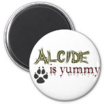 Alcide is Yummy. 2 Inch Round Magnet