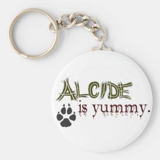 Alcide is Yummy. Basic Round Button Keychain