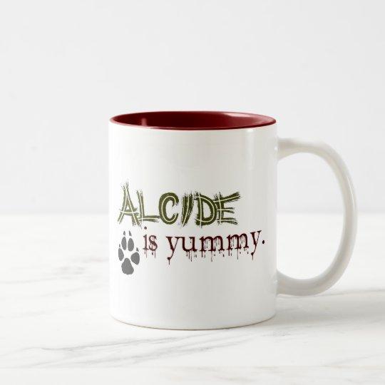 Alcide is Yummy. Two-Tone Coffee Mug
