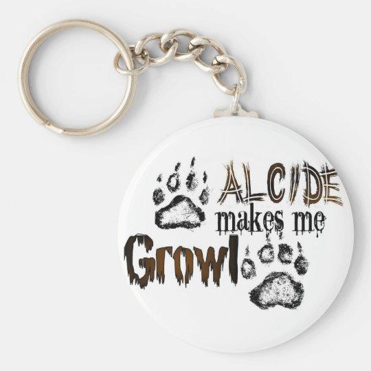 Alcide makes me growl keychain