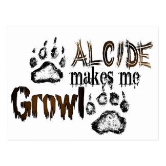 Alcide makes me growl postcard