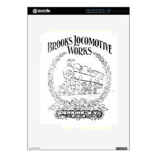 Alco-Brooks Locomotive Works Logo 1899 Zazzle Skin Decals For The iPad 2